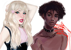 Painting Study w/ cute people by ugly-g0d