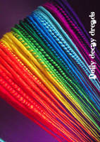 Rainbow dreads by Marshmallowmassacre
