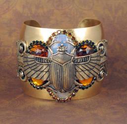 Winged Scarab cuff by bchurch