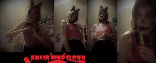 Killer Neko Clown by FireEye6