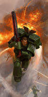 Warhammer 40K Dark Angel Assault Marine by JakeMurray
