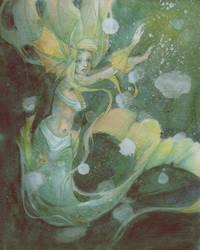 Nerin, the sea maiden by willowdream