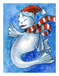 Holiday Dewgong by willowdream