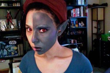 Drow makeup test by Designer-27