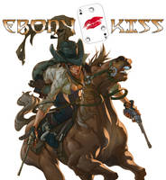 Ebony Kiss Kickstarter Cover by DelHewittJr