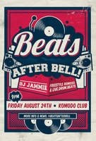 Beats After bell flyer/invitation by HiTOMODACHI