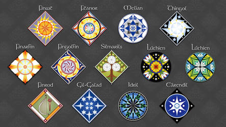 Tolkien's Eldar Heraldry Wallpaper by FromMidworld