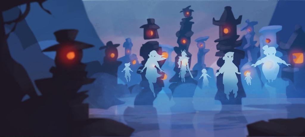 Stone lanterns by ApollinArt