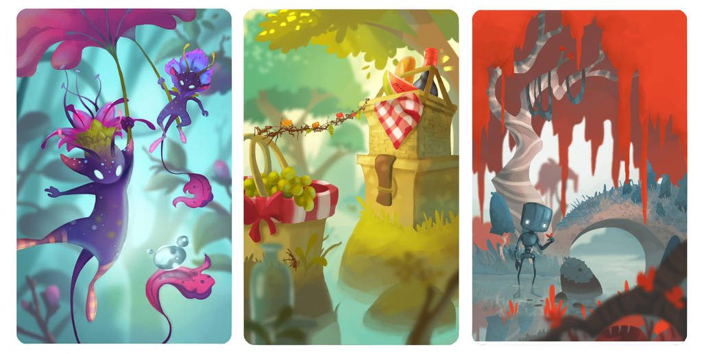 Card Illustrations by ApollinArt