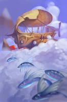 Skyship by ApollinArt
