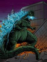 Godzilla Rampage by BaneNascent