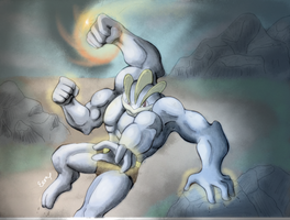 Machamp is tightening its focus!- Contest entry by EemsArt