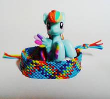 'Full plaid' bracelet - Rainbow Dash by meowcephei