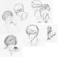 Jarrett and Lelant doodles by RosyAutumn