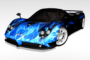 [MMD] Sports Car - Pagani Zonda Custom Skin 01 by arisumatio