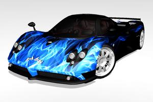 [MMD] Sports Car - Pagani Zonda Custom Skin 01 by arisumatio
