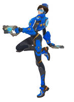 [MMD] Overwatch Tracer Cadet Oxton by arisumatio