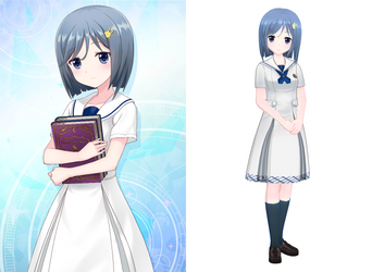 [MMD] Orimiya Yui Summer Uniform by arisumatio