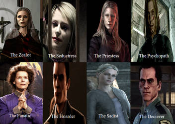 Silent Hill Antagonists Types by RUNEPATRIARCH
