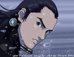 Gantz Katou Page coloring by GantzAistar