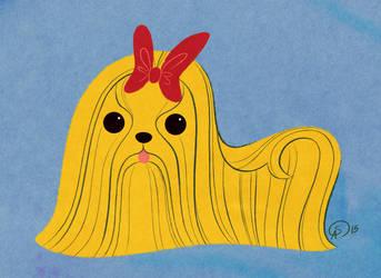 Yellow dog by GantzAistar