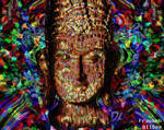 Psychedelic Buddha by AliDee33