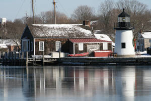 Winter Lighthouse Reflection by AliDee33