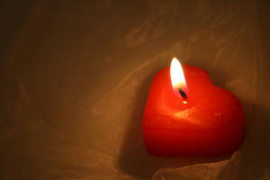 Heart Shaped Candle Stock by AliDee33