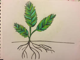 Colored Pencil Leaves Stock by AliDee33