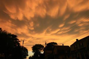 Cloudy Orange Sky Stock Photo by AliDee33
