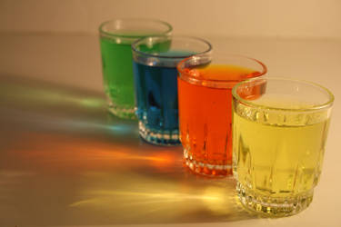 Colored Shot Glassses by AliDee33