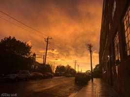 Orange City Sunset by AliDee33