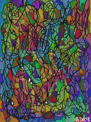 Rainbow Scribbles by AliDee33
