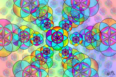 Seed Of Life Kaleidoscope by AliDee33