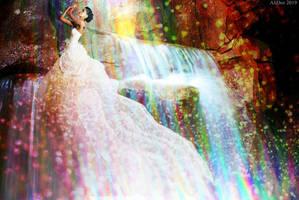 Waterfall Flowing by AliDee33
