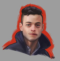 Rami Malek Portrait by stutte