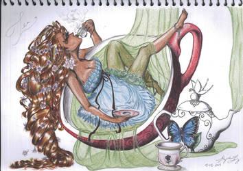 Tea (Coloured) by CeruleanHeavens