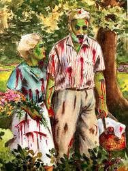 Zombie picnic by j-alex-darr