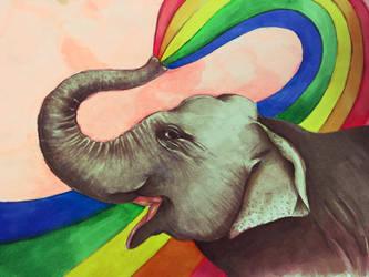Elephant rainbow  by j-alex-darr