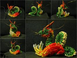 Chaquira lung dragon by freetobe