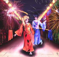SasuNaru - Female - Firework by Schayla00