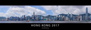 Hong Kong full Skyline Panorama by Draken413o