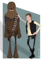 Han and Chewie by Cranimation
