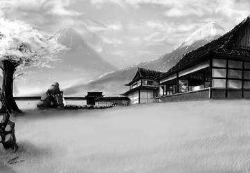 Yasunaga household by faustsketcher
