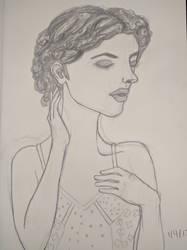 Portrait of a Girl Sketch by buffydoesbroadcast