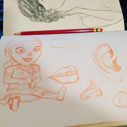 Little Anna Sketch by buffydoesbroadcast