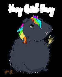 Hay Gurl Pig by buffydoesbroadcast