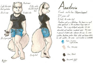 Anastasia Reference Sheet by KalahariFox