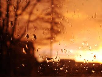 Sunset Through the Rain by bunnyjuju