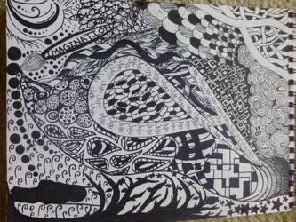 Zentangle J by bunnyjuju
